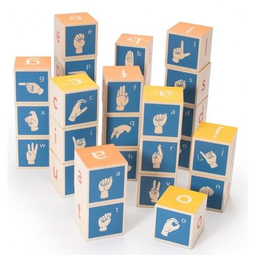 American Sign Language Alphabet Blocks
