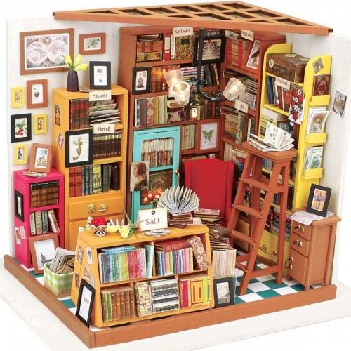 Miniature Bookshop DIY Model Kit