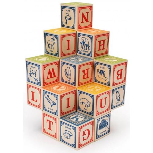 Classic Embossed Alphabet Blocks