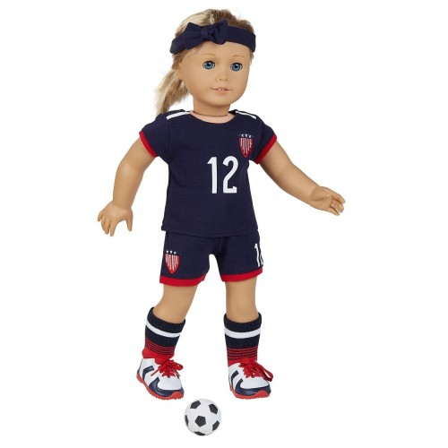 "USWNT Uniform for 18"" Doll"