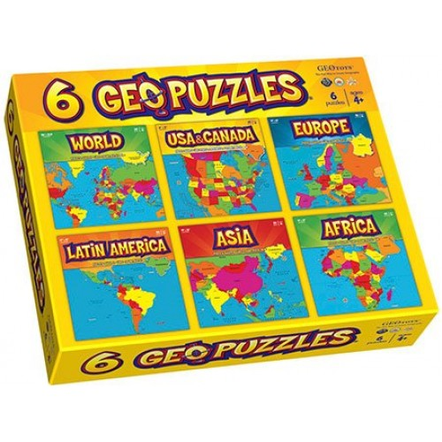 Geography Puzzle: Six-In-One Box Set