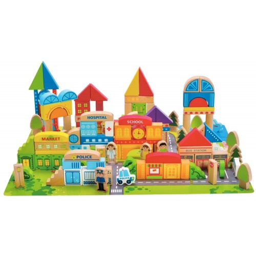 City Building Blocks with Playscape