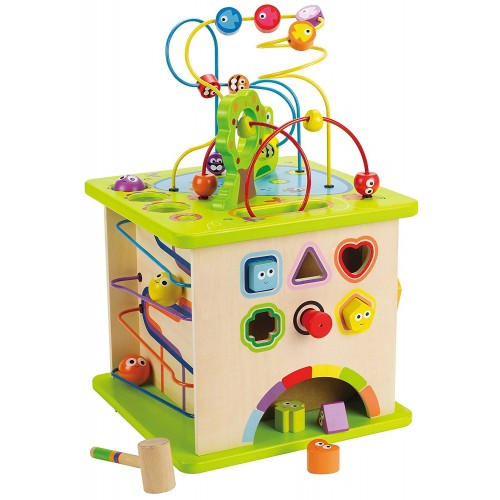 Country Critters Wooden Activity Play Cube