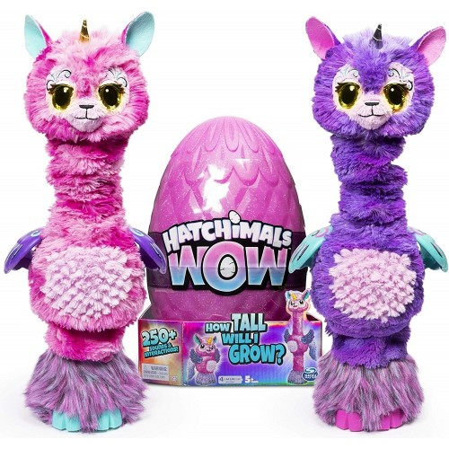 Hatchimals WOW Llalacorn Interactive Toy with Rehatchable Egg