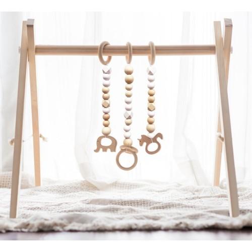 Wood Foldable Baby Gym