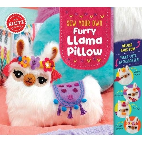 Sew Your Own Furry Llama Pillow Craft Kit