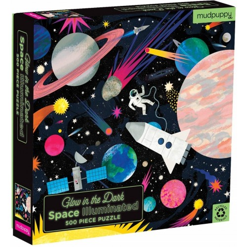 500-Piece Glow in the Dark Space Puzzle