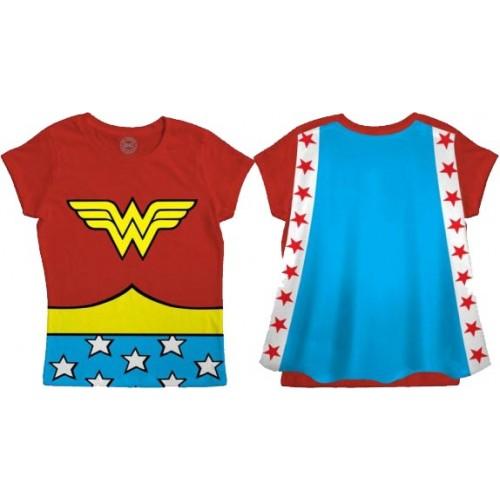 Wonder Woman Caped Children's T-Shirt