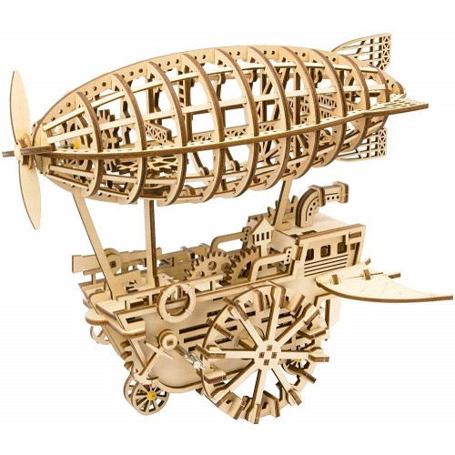 3D Wooden Airship Puzzle